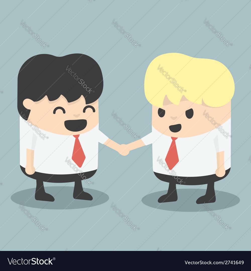 Businessman handshake vector | Price: 1 Credit (USD $1)