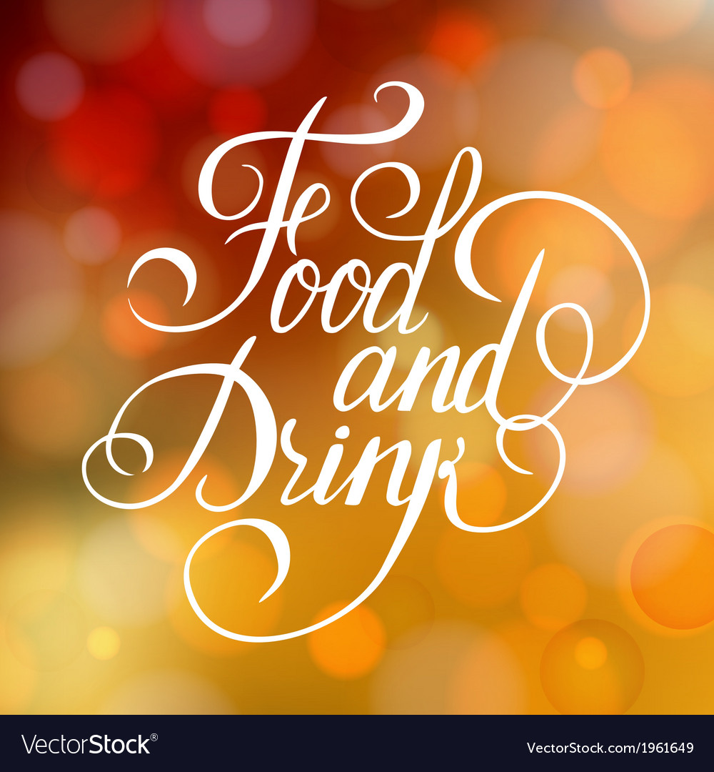 Food and drink typographic poster design vector | Price: 1 Credit (USD $1)