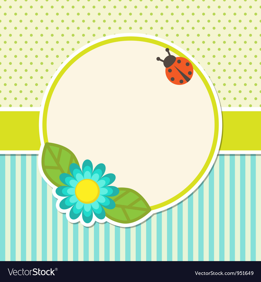 Frame with flower vector | Price: 1 Credit (USD $1)