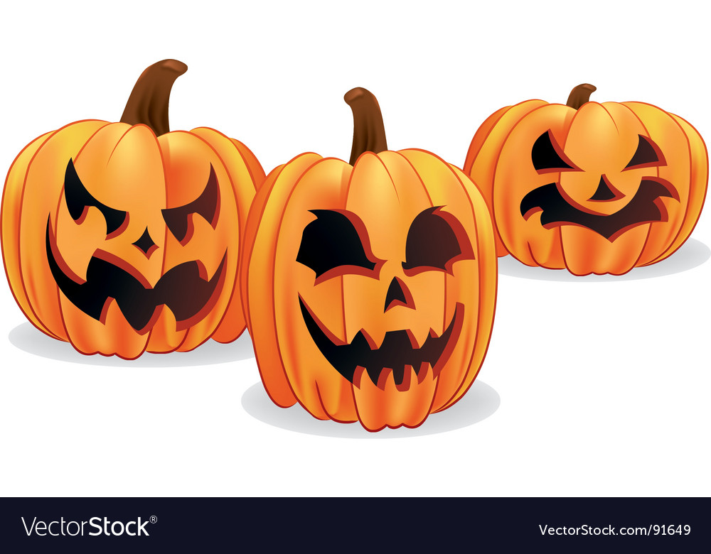 Halloween jack-o-lanterns vector | Price: 1 Credit (USD $1)