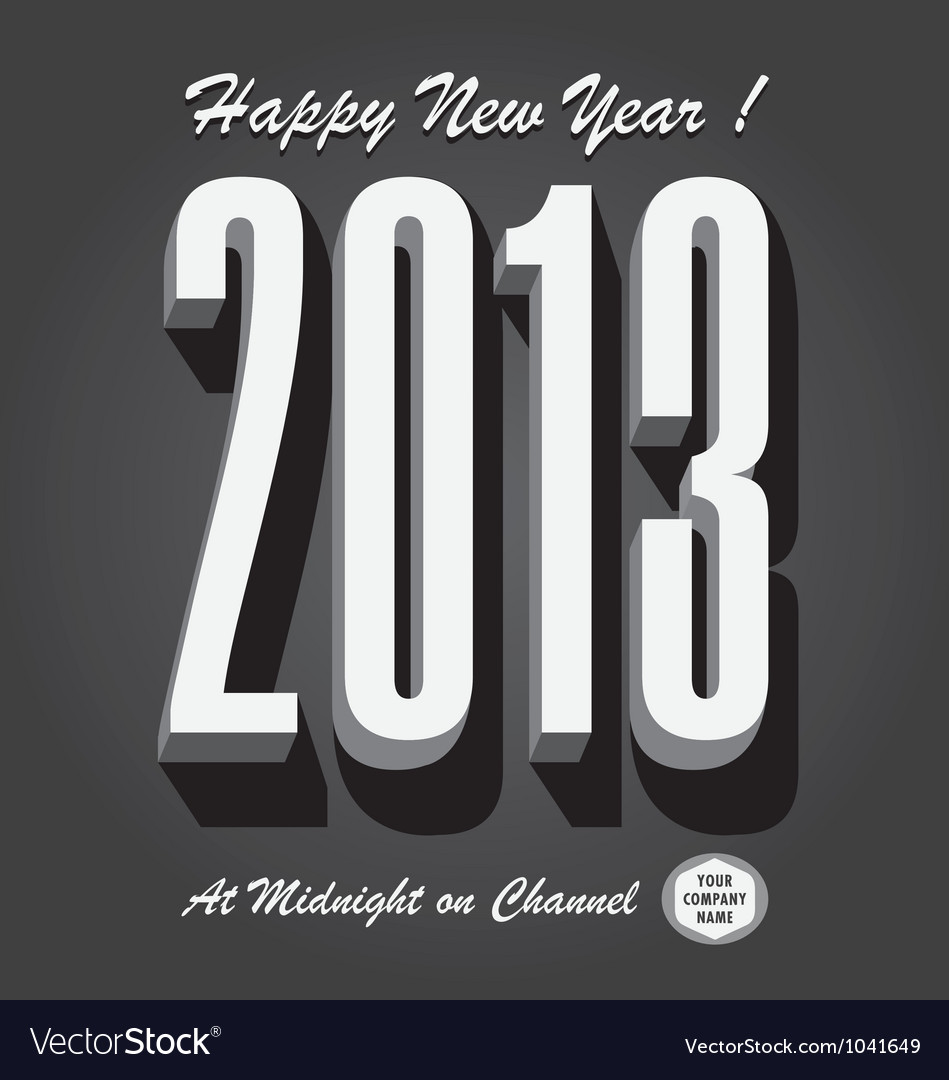 Happy new year 2013 retro vector | Price: 1 Credit (USD $1)