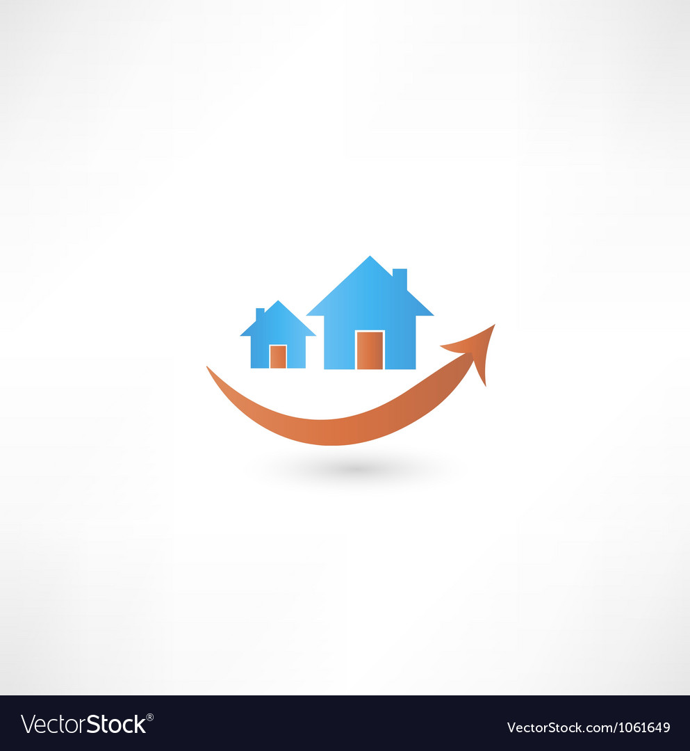 Home sign real estate concept design smile vector | Price: 1 Credit (USD $1)