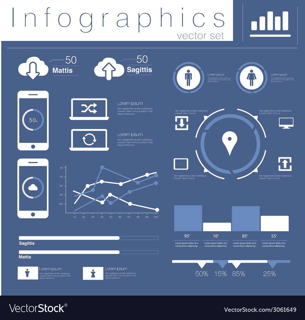Info graphics mobile data set vector | Price: 1 Credit (USD $1)
