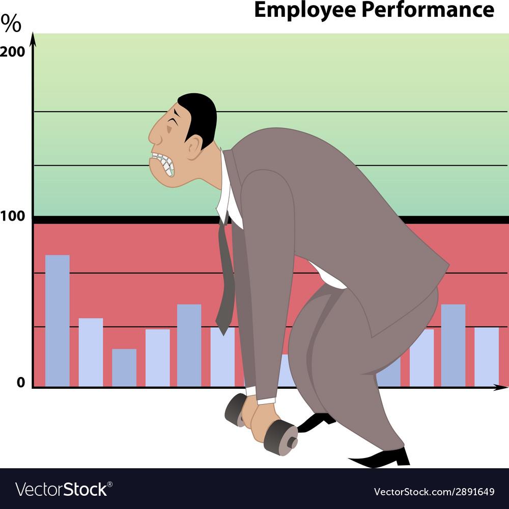 Poor job performance vector | Price: 1 Credit (USD $1)