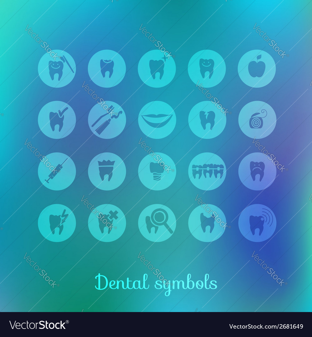 Set of dentistry symbols vector | Price: 1 Credit (USD $1)