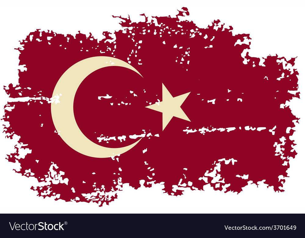 Turkish grunge flag vector | Price: 1 Credit (USD $1)