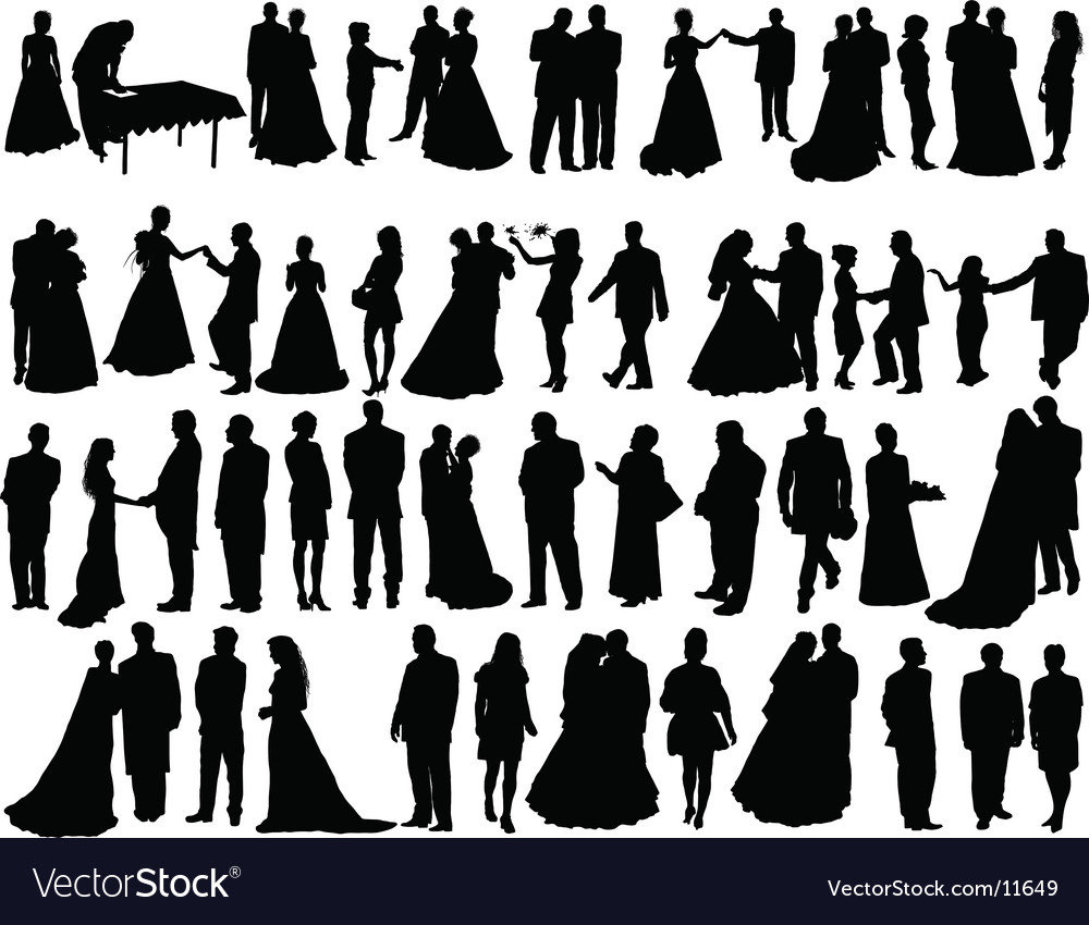 Wedding silhouettes vector | Price: 3 Credit (USD $3)