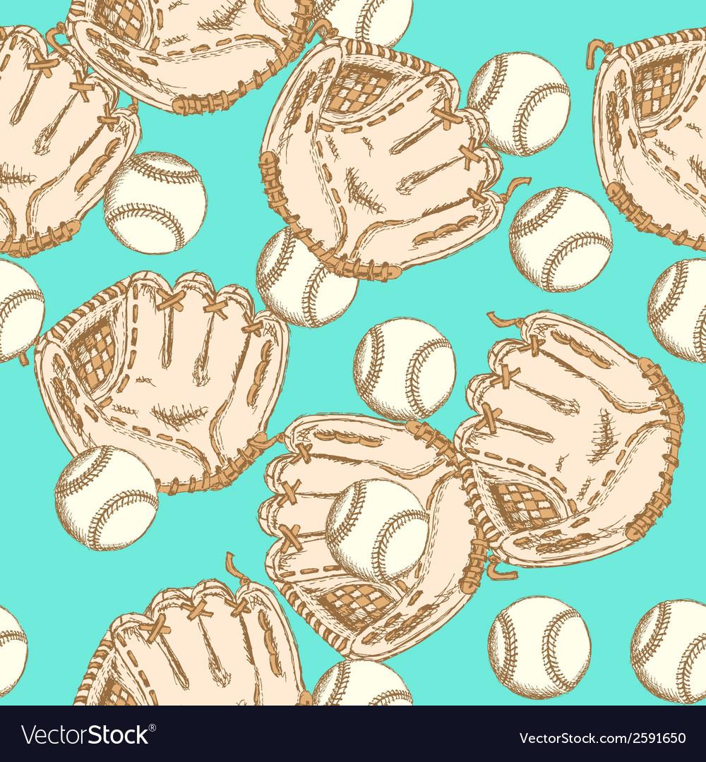 Baseball ball glove vector | Price: 1 Credit (USD $1)