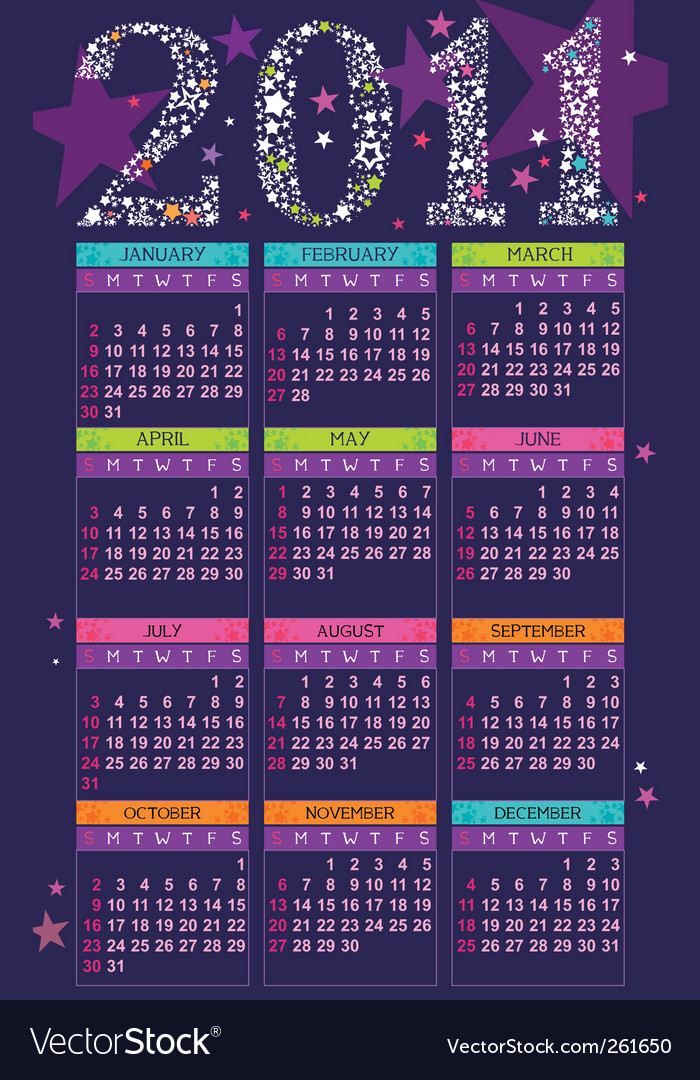 Calendar for 2011 vector | Price: 3 Credit (USD $3)