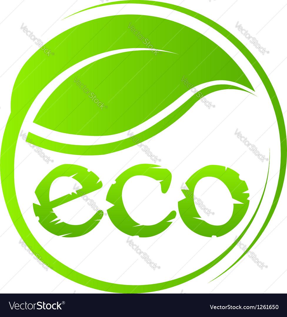 Eco green seal vector | Price: 1 Credit (USD $1)