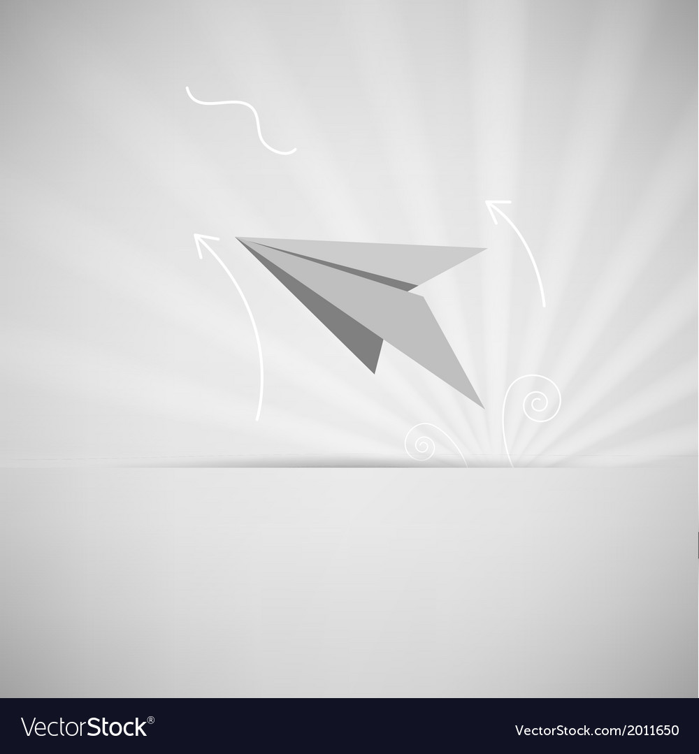Eps10 paper aircraft vector | Price: 1 Credit (USD $1)