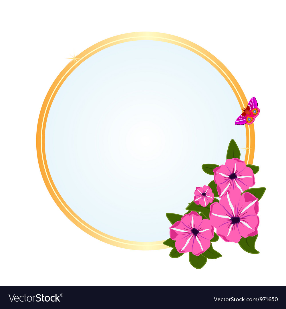 Frame with meadow flowers vector | Price: 1 Credit (USD $1)
