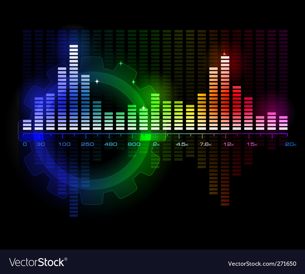 Music sound wave spectrum vector | Price: 1 Credit (USD $1)