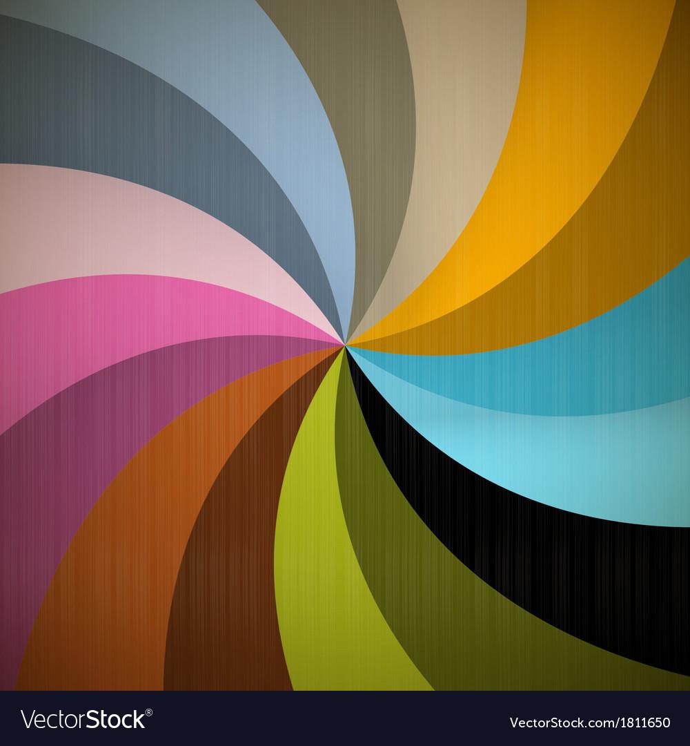 Retro spiral background vector | Price: 1 Credit (USD $1)