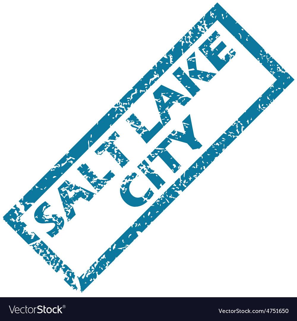 Salt lake city rubber stamp vector | Price: 1 Credit (USD $1)