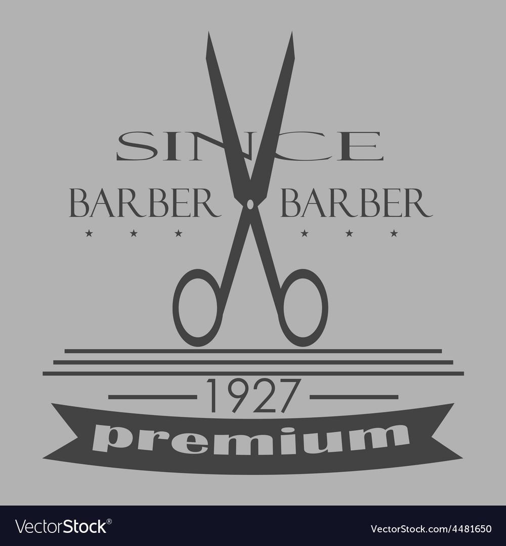 Vintage barber shop logo labels badges and vector | Price: 1 Credit (USD $1)