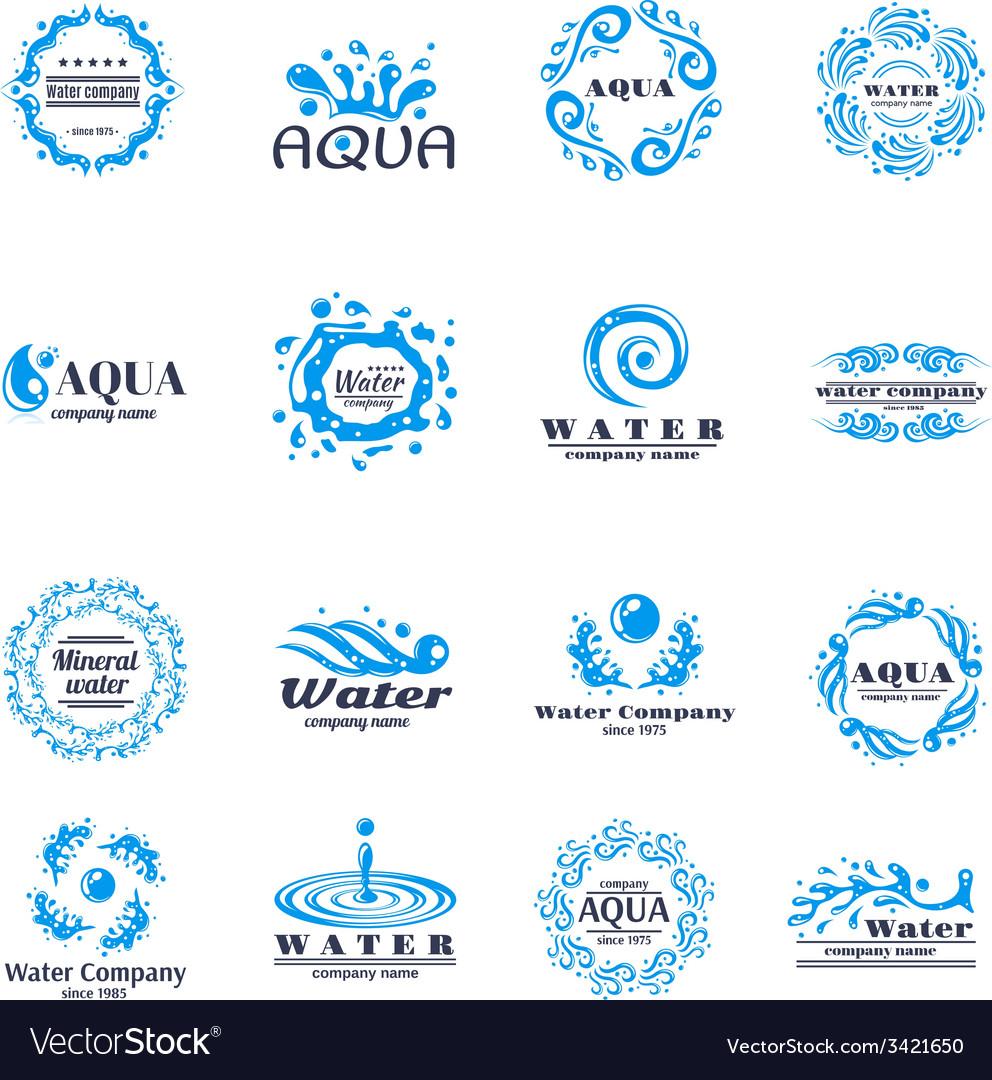 Water logo set vector | Price: 1 Credit (USD $1)