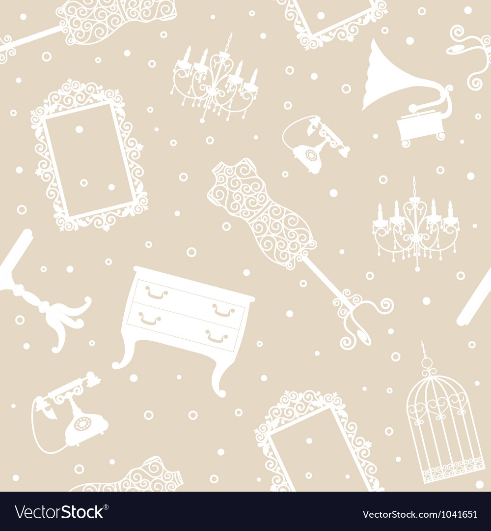 Antique collection seamless pattern vector | Price: 1 Credit (USD $1)