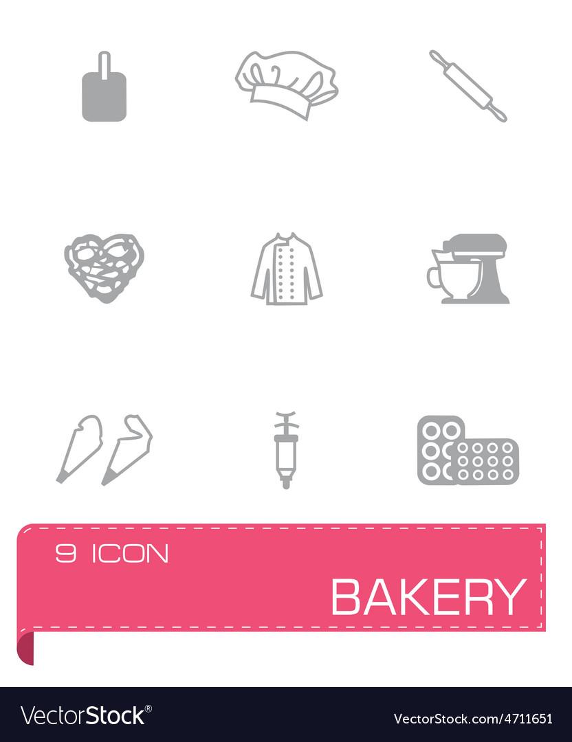 Bakery icon set vector | Price: 1 Credit (USD $1)