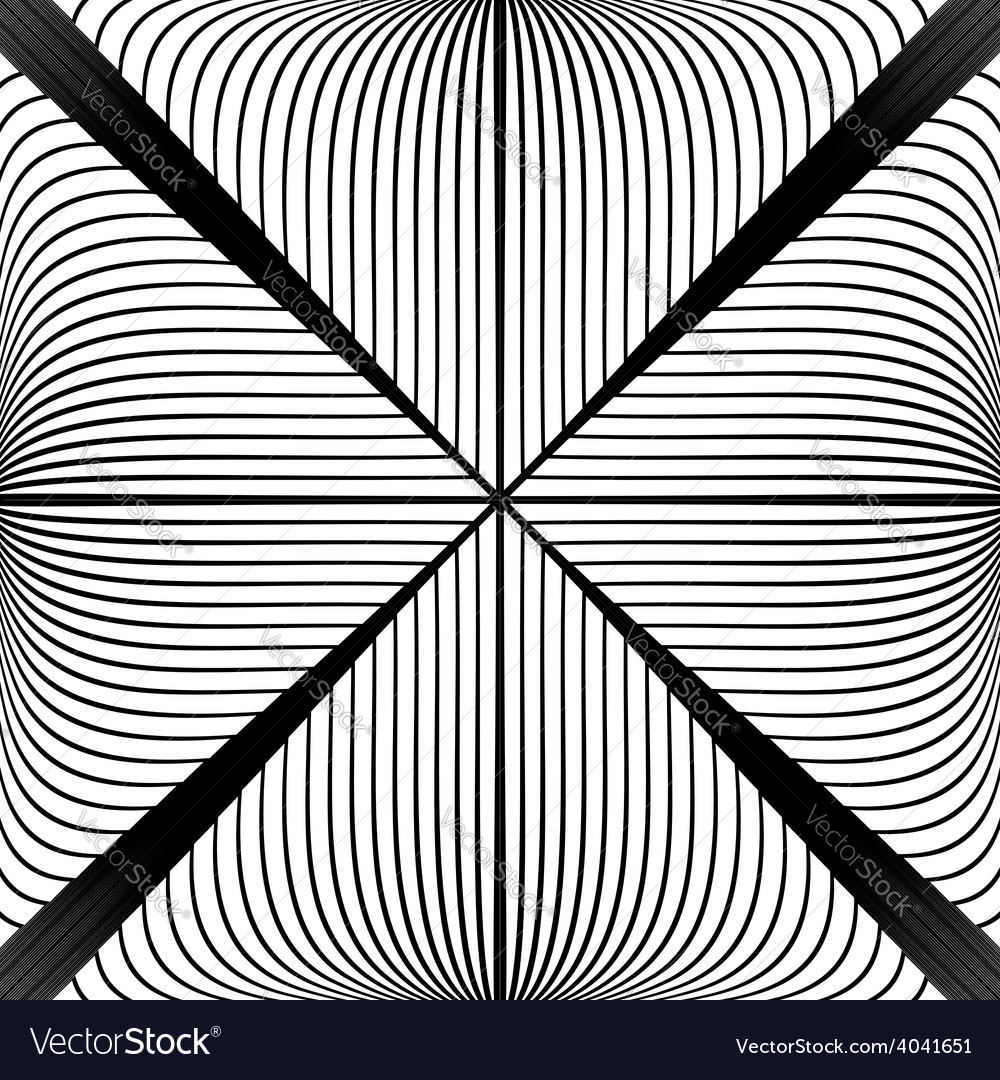 Design monochrome abstract lines background vector | Price: 1 Credit (USD $1)