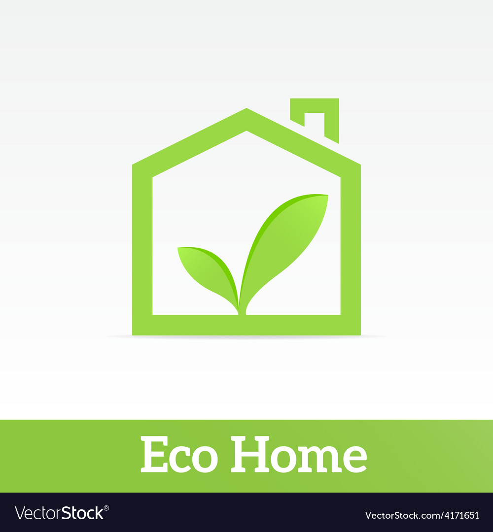 Eco home vector | Price: 1 Credit (USD $1)