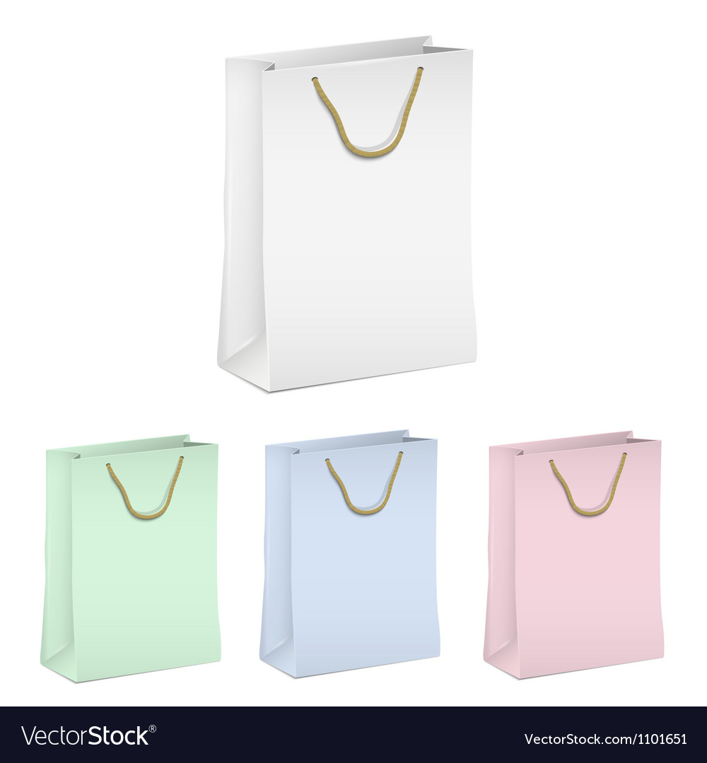 Empty shopping paper bags vector | Price: 1 Credit (USD $1)
