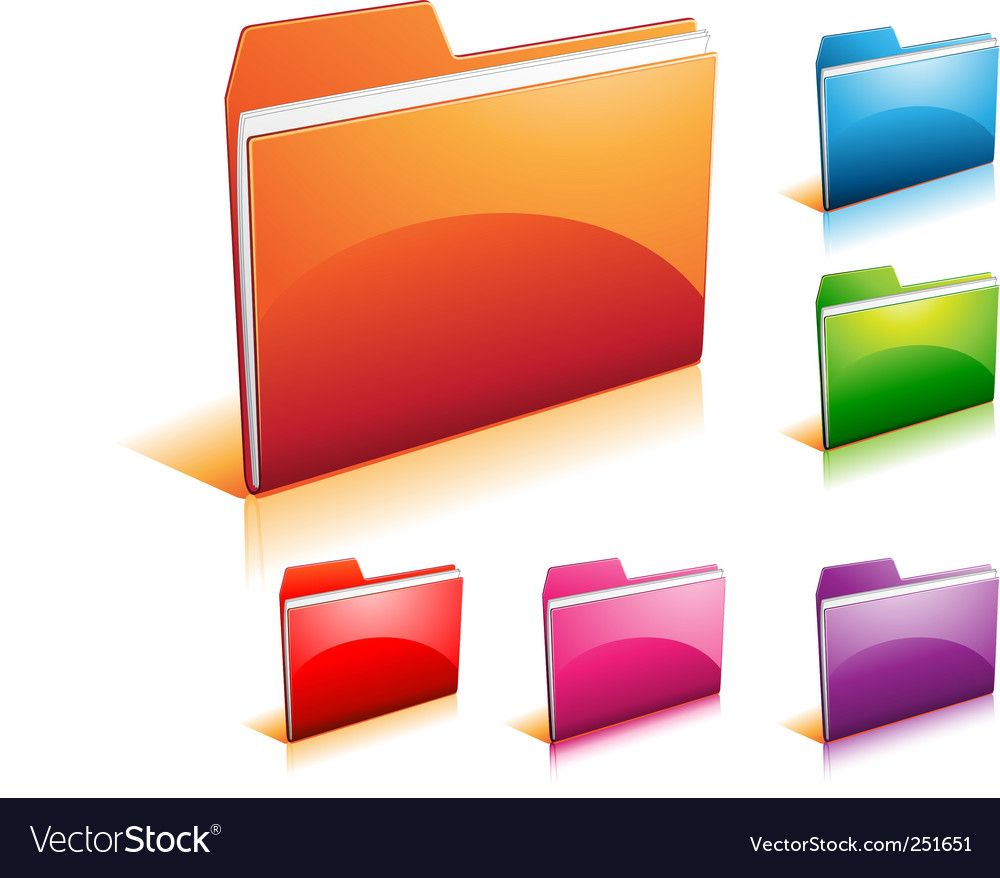 Folder icon vector | Price: 1 Credit (USD $1)