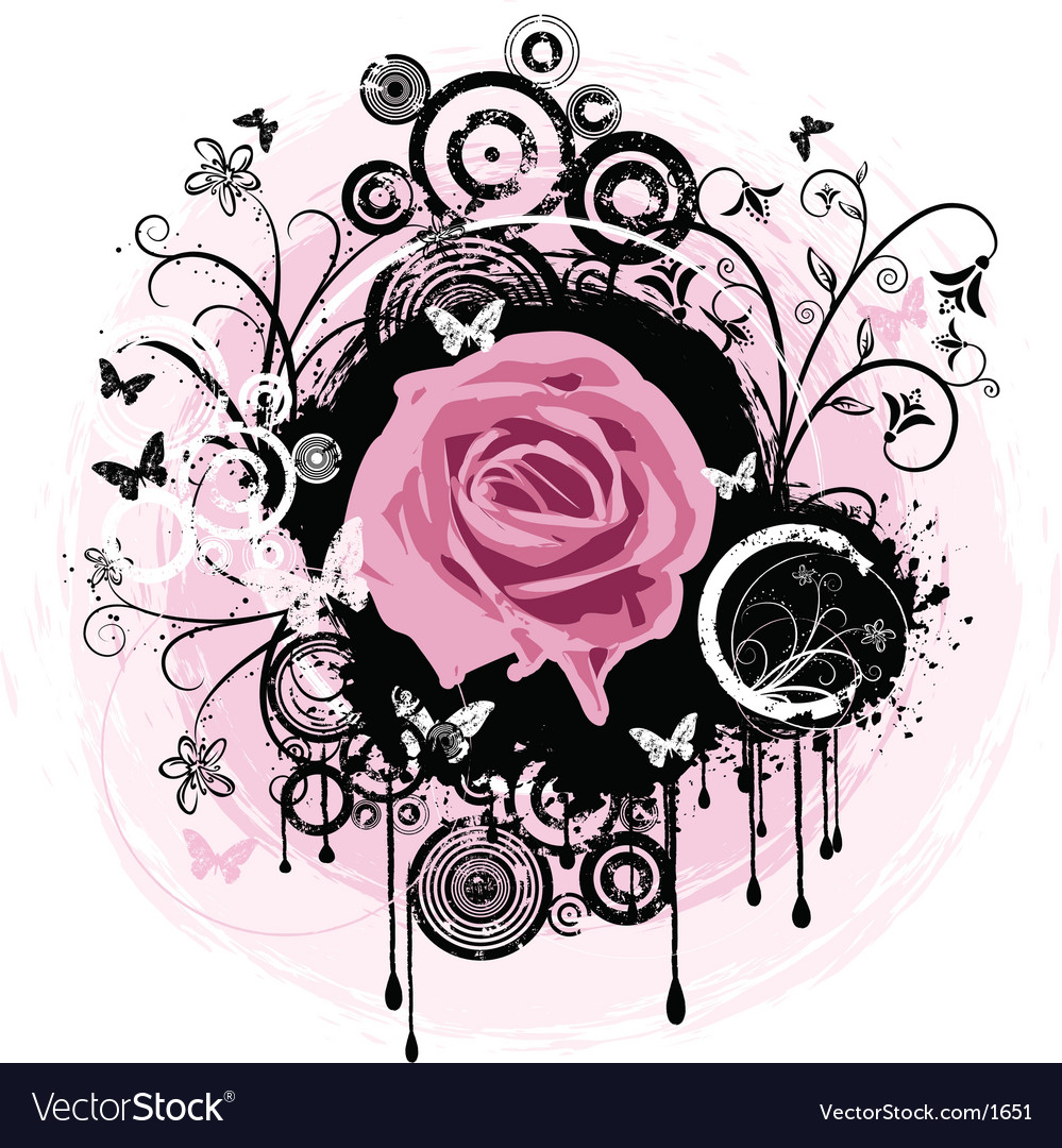 Grunge rose abstract vector   Price: 1 Credit (USD $1)
