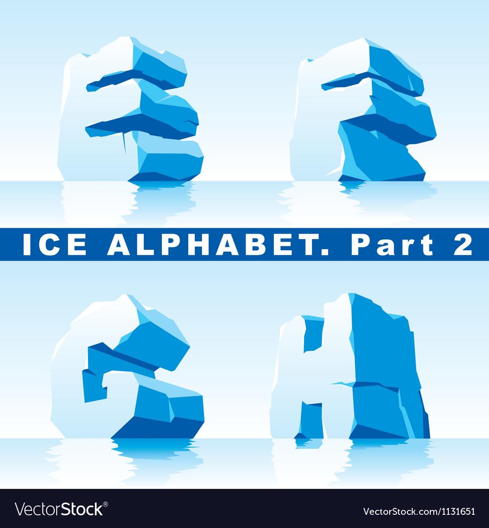 Ice alphabet part 2 vector | Price: 1 Credit (USD $1)