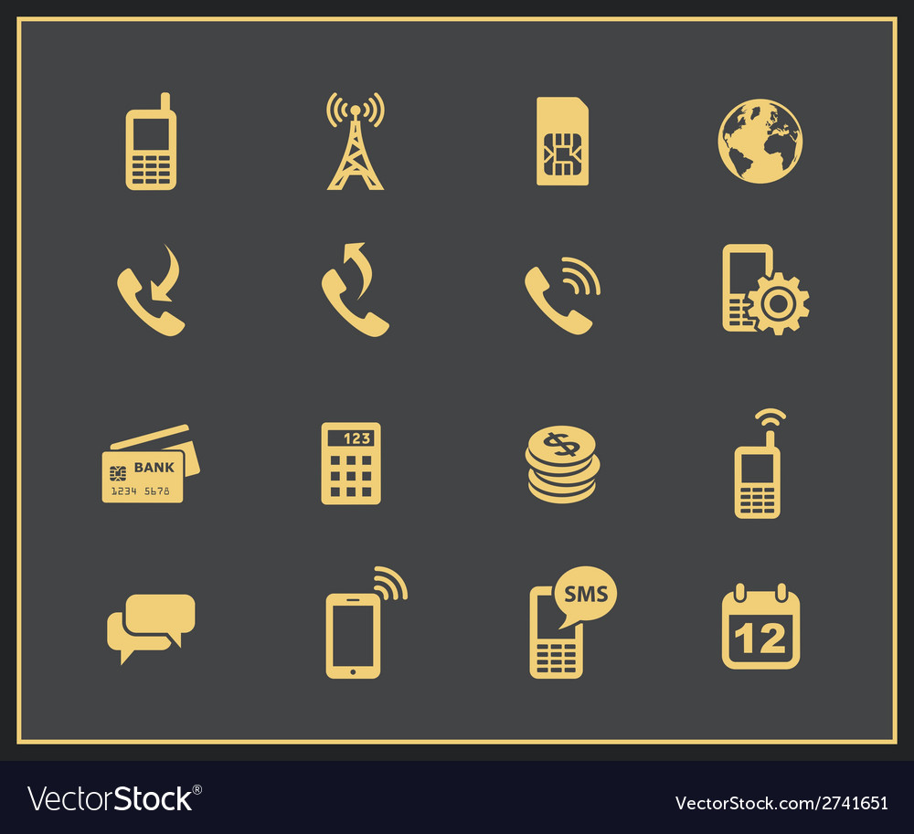 Mobile account management icons vector | Price: 1 Credit (USD $1)