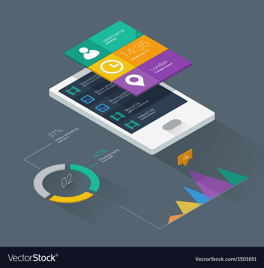 Mobile application concept vector | Price: 3 Credit (USD $3)
