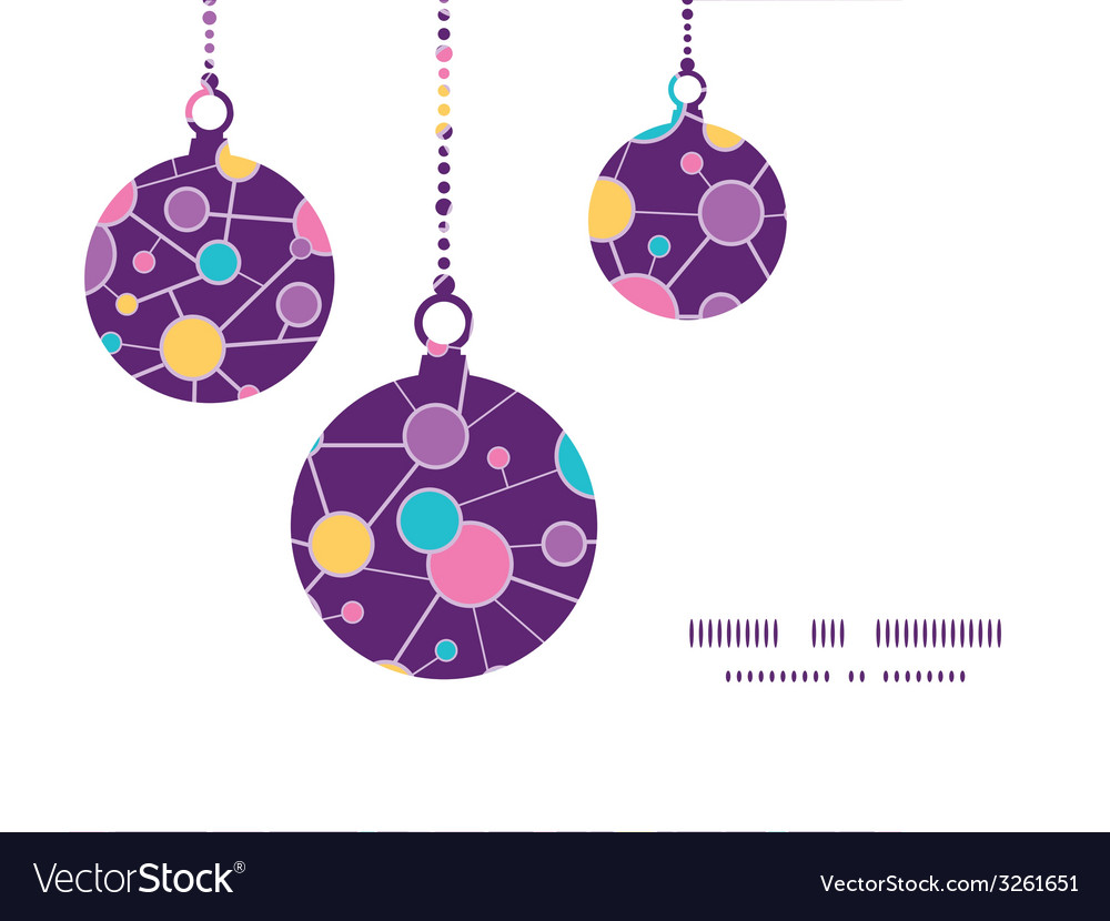 Molecular structure christmas ornaments vector | Price: 1 Credit (USD $1)