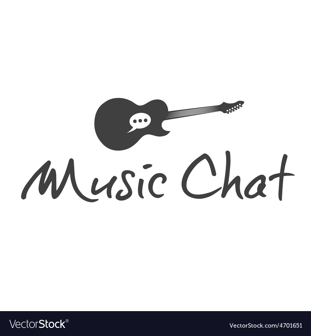 Music chat concept design template vector | Price: 1 Credit (USD $1)