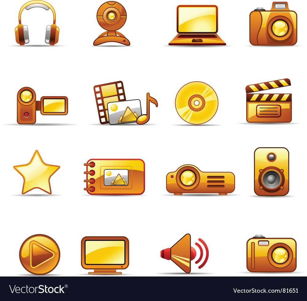 Photo and video orange vector | Price: 1 Credit (USD $1)