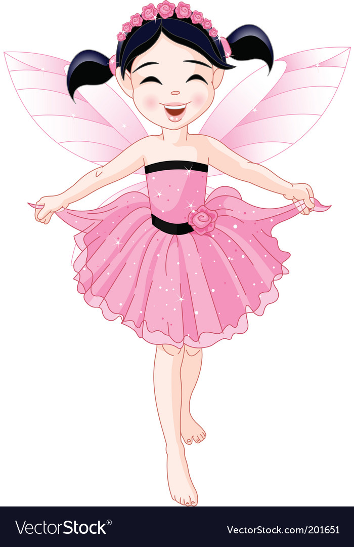 Pink fairy vector | Price: 1 Credit (USD $1)