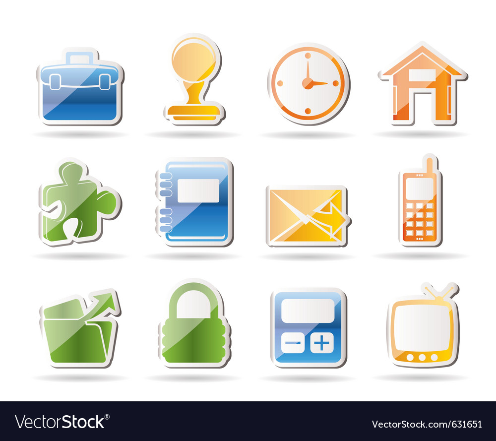Simple business and office icons vector   Price: 1 Credit (USD $1)