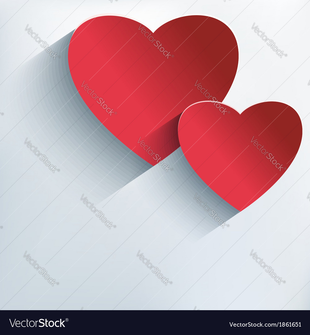 Stylish valentine background with 3d red heart vector | Price: 1 Credit (USD $1)