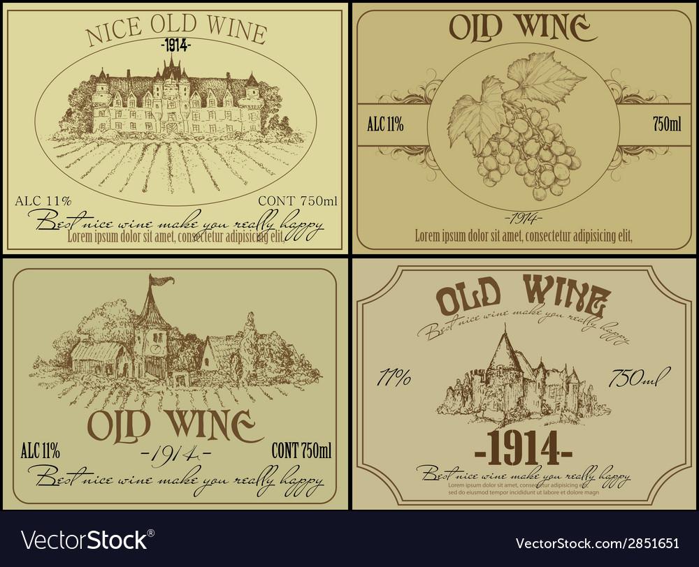 Vintage wine design elements vector | Price: 1 Credit (USD $1)