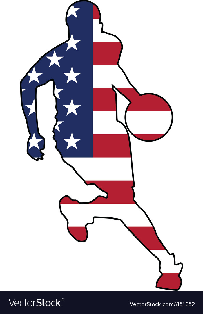 Basketball colors of united states vector | Price: 1 Credit (USD $1)