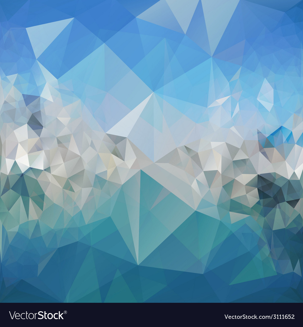 Blue abstract background triangle design vector | Price: 1 Credit (USD $1)