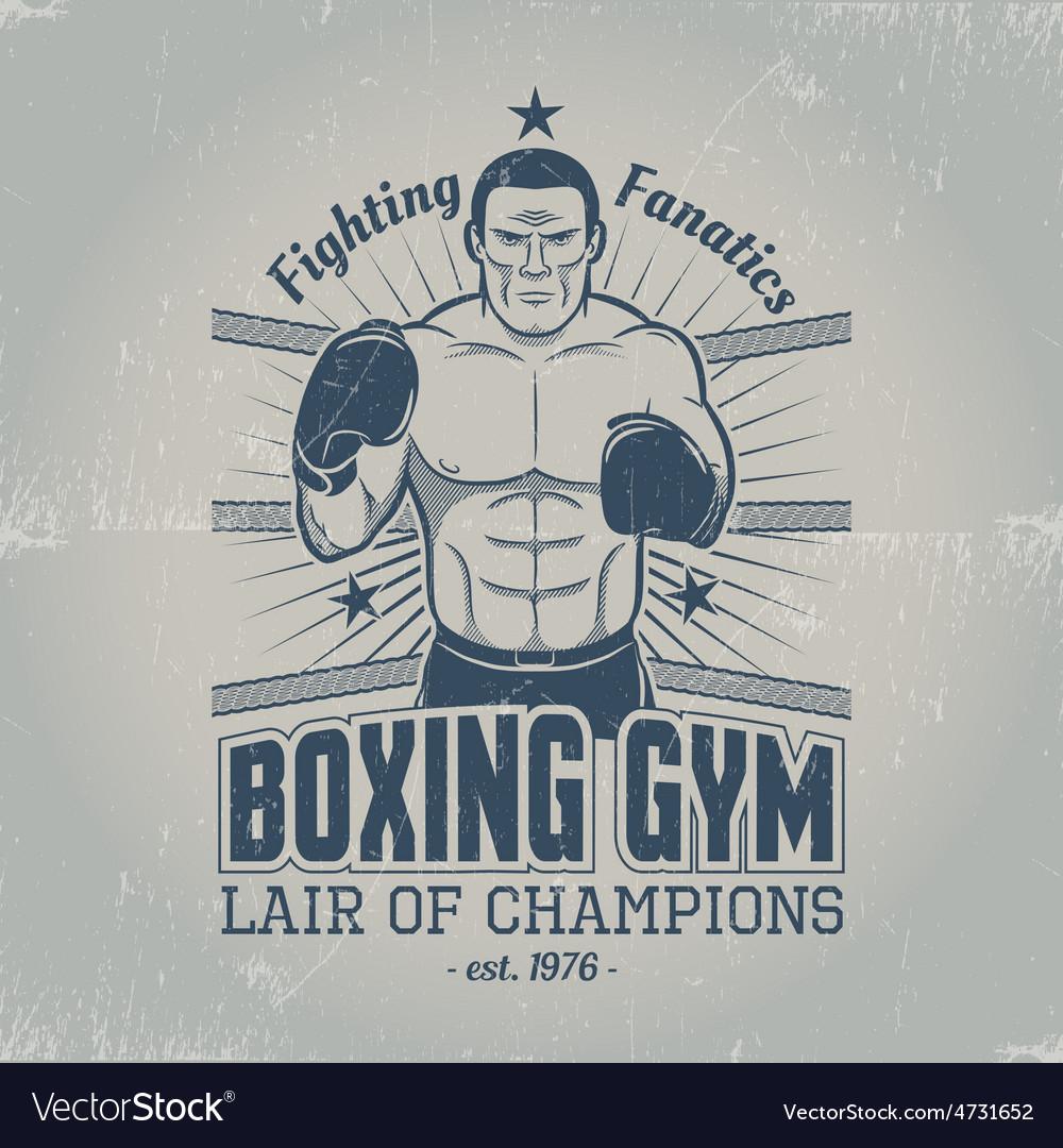 Boxing gym logo vector   Price: 1 Credit (USD $1)