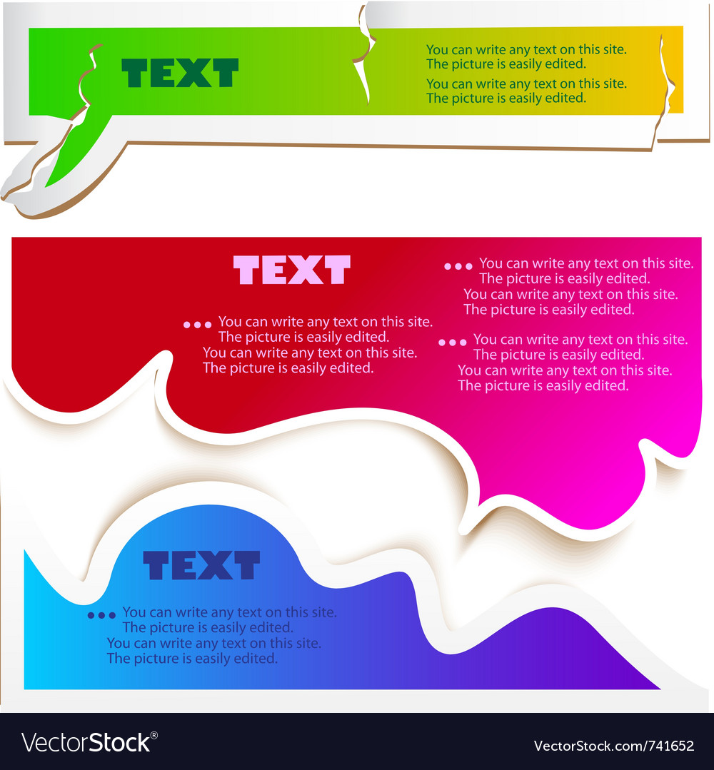 Colorful speech bubbles vector | Price: 1 Credit (USD $1)