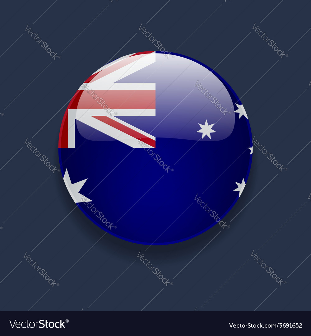 Round icon with flag of australia vector | Price: 1 Credit (USD $1)