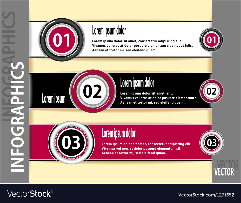 Set modern banners or template of infographics vector | Price: 1 Credit (USD $1)