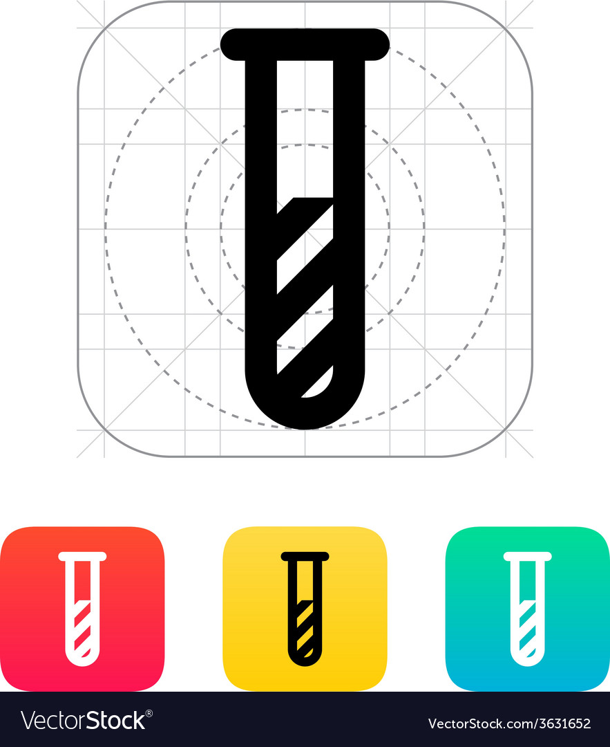 Test tube with substance icon vector | Price: 1 Credit (USD $1)