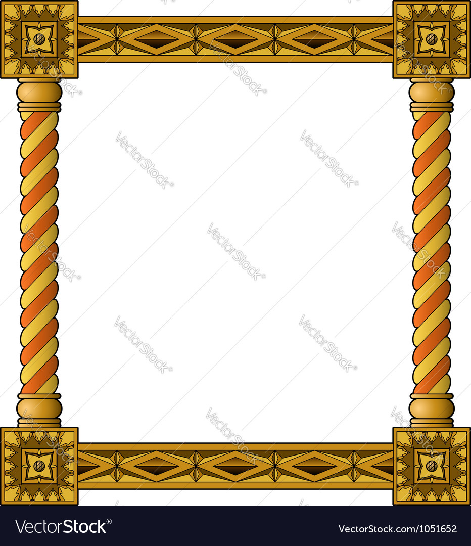 Traditional column frame bottom vector | Price: 1 Credit (USD $1)