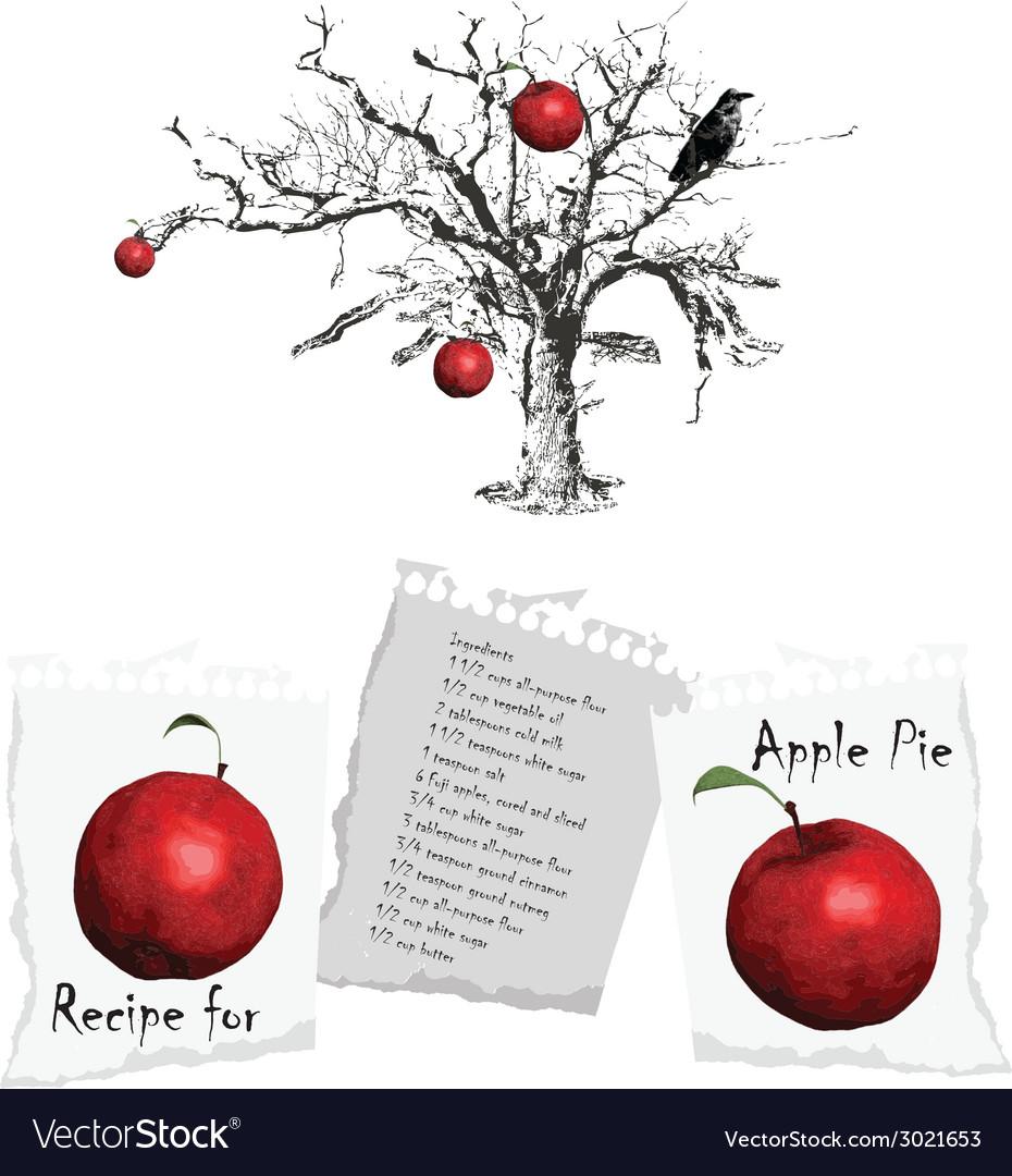 Apple pie vector | Price: 1 Credit (USD $1)