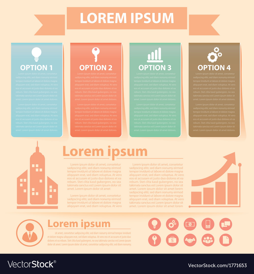 Business infographics banner vector | Price: 1 Credit (USD $1)