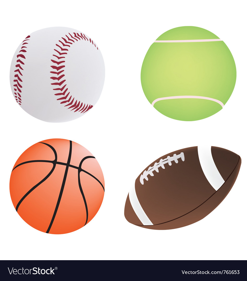 Four different ball vector | Price: 1 Credit (USD $1)
