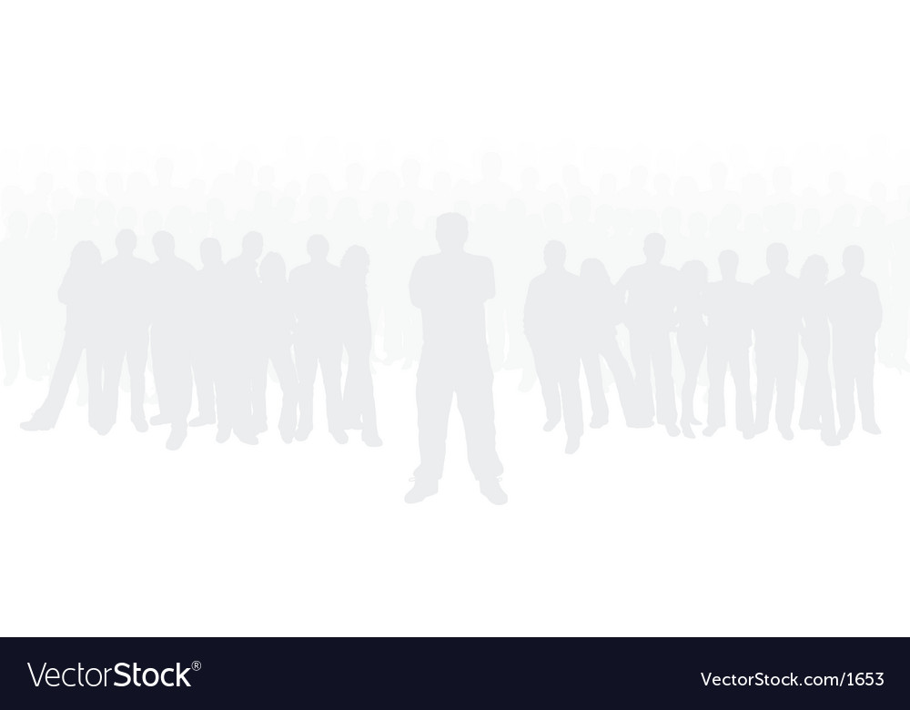 Group of people vector | Price: 3 Credit (USD $3)